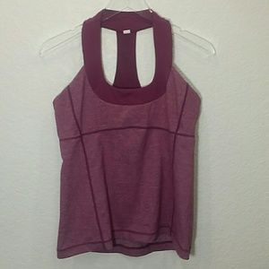 Lululemon Scoop Neck Tank Heathered Plum Size 12